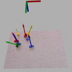 Running the identify_duplo function also produces associated markers in rviz