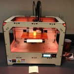 The dispenser piece in the MakerBot Replicator