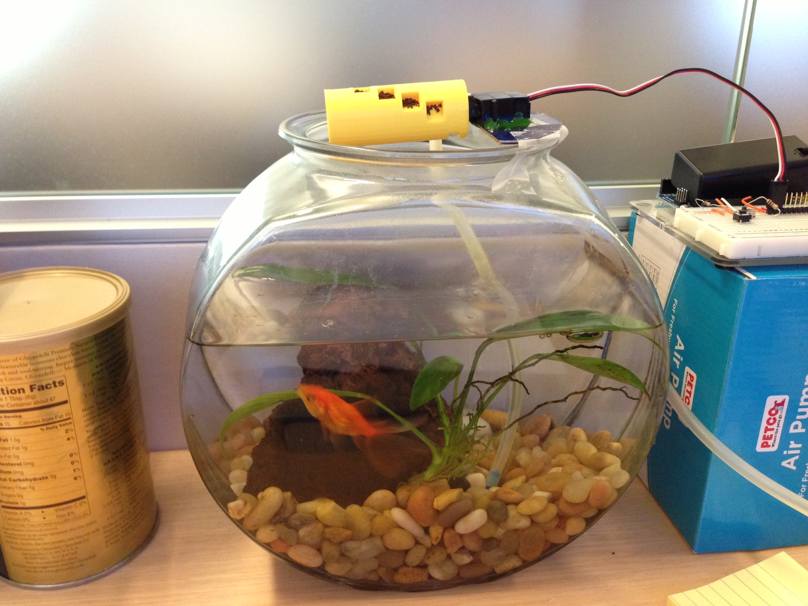 November 2012 josh villbrandt for Fish food dispenser