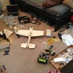 Building the flat-wing foamie.